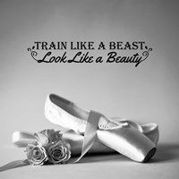Train Like A Beast Grayscale Fine Art Print