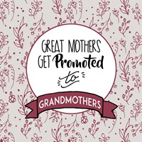 Great Mothers Get Promoted To Grandmothers Red Fine Art Print