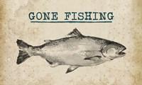 Gone Fishing Salmon Black and White Fine Art Print