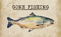 Gone Fishing Salmon Color Fine Art Print