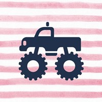 Monster Truck Graphic Pink Part III Fine Art Print