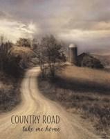 Country Road Take Me Home Fine Art Print