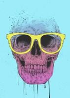 Pop Art Skull With Glasses Fine Art Print