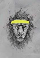 Hipster Lion Fine Art Print