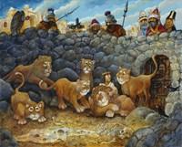 Daniel In Lions Den Fine Art Print