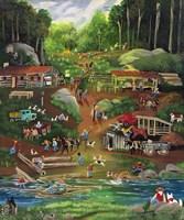 Possom Trot Logging Camp Fine Art Print