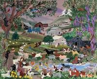 With Francis #2 Creekside Farm Fine Art Print
