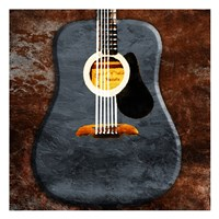 Rustic Acoustic Guitar Fine Art Print