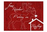 Free Reindeer Parking Fine Art Print
