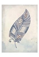 Feather Henna 2 Fine Art Print