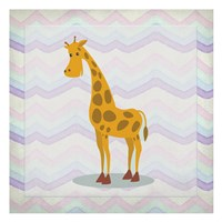 Pink Giraffe Time Fine Art Print