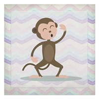 Pink Monkey Time Fine Art Print
