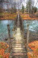 Footbridge Vertical Fine Art Print