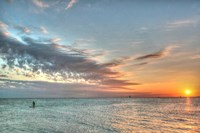 Key West Paddleboard Sunset Fine Art Print