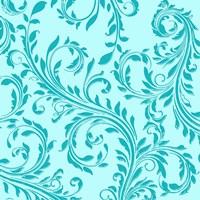 Aqua Teal Damask Fine Art Print