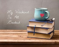 My Weekend Is All Booked-  Blue Fine Art Print