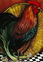 A Rooster In The Kitchen Fine Art Print