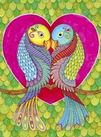 Lovebirds in Colour Fine Art Print