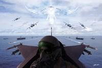 Angels Overhead 1 Fine Art Print