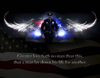 No Greater Love Police Fine Art Print
