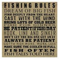 Fishing Rules Fine Art Print