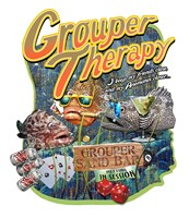 Grouper Therapy Fine Art Print