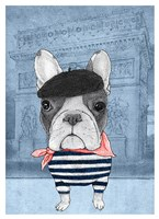 French Bulldog with Arc de Triomphe Fine Art Print