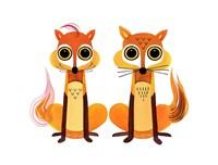 Foxy Foxes Fine Art Print