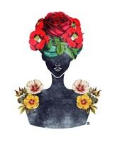 Flower Crown Silhouette III Fine Art Print