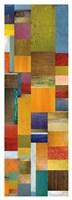 Color Panels with Olives Stripes Fine Art Print