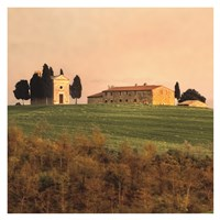 Evening Light, Tuscany Fine Art Print