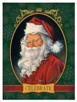 Santa Celebrate Fine Art Print