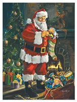 Sneaking Santa Fine Art Print