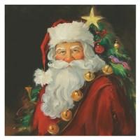Sparkling Santa Fine Art Print