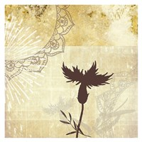 Golden Henna Breeze 2 Fine Art Print