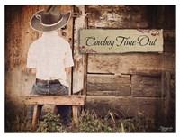 Cowboy Time OUt Fine Art Print