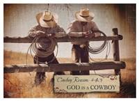 God is a Cowboy Fine Art Print