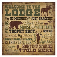 Welcome to the Lodge - Hunting Fine Art Print