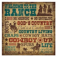 Welcome to the Ranch Fine Art Print