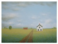 Along the Old Country Road Fine Art Print