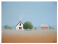 Farmstead in the Mist Fine Art Print