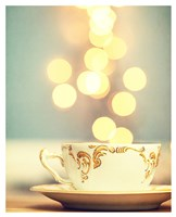 Tea Cup in Cold Bokeh Fine Art Print