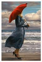 Red Umbrella Fine Art Print