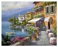 Seaside Bistro Cafe Fine Art Print
