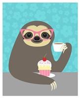 Diva Sloth Fine Art Print