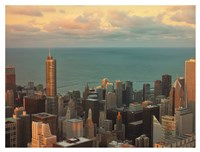 Sunset in Chicago Fine Art Print