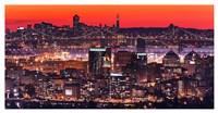 Oakland SF Twilight Framed Print