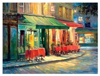 Red & Green Cafe Fine Art Print