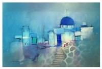 Santorini Blue Fine Art Print