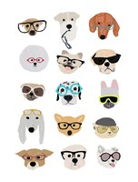 Dogs with Glasses Fine Art Print